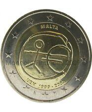 Pièce 2euros commémorative Malte 2009 – 10ème anniversaire de l'Union Economique