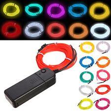 5M Flexible EL Wire Neon Flash Glow Light Dance Car Party Decor Tube Light Lamp