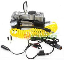 12V DC Twin Cyclinder Mini Metal Air pump Compressor Tire Inflator Kit 12 Volt