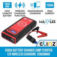 Maxxlee 1500A Car 12V Jump Starter Battery Charger Wireless Charging Power Bank