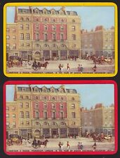 2 Single VINTAGE Swap/Playing Cards FORTNUM & MASON HORSE & CARRIAGE