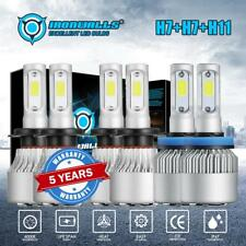 Combo H7+H7+H11 LED Headlight Bulb Hi+Lo Beam + Fog Light 900000LM 6000W  White