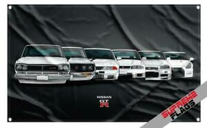 GTR Evolution Flag (3x5 ft) Banner Nissan Nismo R31 R32 R33 R34 R35 Skyline