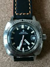 Vintage pronto divers submersible watch baby panerai, boxed with sales receipt.