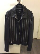 versace leather jacket mens
