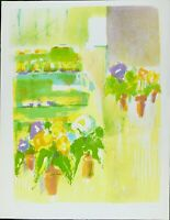 Vintage Serigraph Print, Signed by Mary Page Evans Edition 200, Modern Abstract