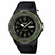 Casio Mens Water Resistant Divers Sports Watch Nylon Strap MRW-200HB-1BVEF New