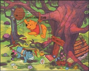 Sierra Leone 1985 Disney/Winnie the Pooh/Bee/Cartoons/Animation 1v m/s (b4478c)