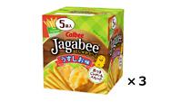 Calbee Jagabee Potatoes salt taste 80g x 3pcs