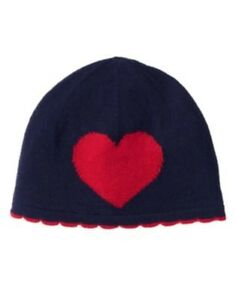 GYMBOREE FUN AT HEART NAVY w/ RED HEART SWEATER BEANIE HAT 0 3 6 12 18 24 NWT