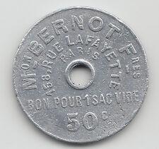 50 Centimes Monnaies de Necessite jeton token Mon. Bernot Paris France - 6