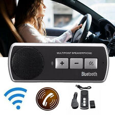 Hands-free Multipoint Wifi Bluetooth Speakerphone Speaker Car Kit Visor Clip new