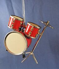 Drum Set Ornament Musical Instrument Collectible Holiday Home Decor