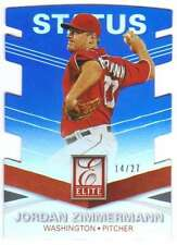 2015 Panini Elite Blue Status Die-Cut /27 #72 Jordan Zimmermann Nationals