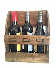 BOTTIGLIA di vino Rack Barra Muro Rustico Fattoria in Legno Armadietto Scaffale