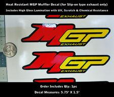 "MGP Exhaust Decal Motorcycle Sport Bike Muffler 5.75"" X 1.5"" NEW & IMPROVED 0148"