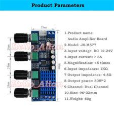 12V-24V TPA3116D2 Digital Audio Volume Power Amplifier Board 80W*2 Dual Channel