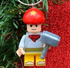Nintendo Super Mario Bros Toad Minifigure Custom Lego Christmas Tree Ornament