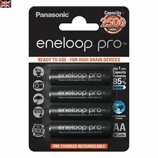 4x Panasonic Eneloop PRO AA HR06 2500mAh NiMH Rechargeable Batteries PRECHARGED