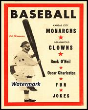 1954 Negro League K.C Monarchs vs  Clowns Game Program 8 X 10 Photo Pic REPRINT