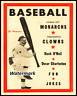 1954 Negro League K.C Monarchs vs  Clowns Game Program 8 X 10 Photo Pic REPRINT