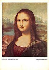 Mona Lisa de Leonardo da Vinci Copie peinte a la bouche