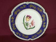"#3 CHELSEA HOUSE K494 FLORAL DECORATIVE DINNER PLATE 10.75"" - COBALT/GOLD"