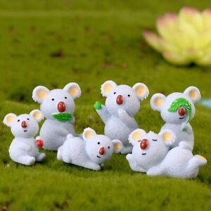 Koala Animal Figurine Miniatures Home Decoration Kawaii Accessories Garden Decor
