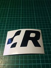 VW R Racing Side Skirt Sill Decals Stickers Golf R32 T4 T5 VDUB Car Van X2