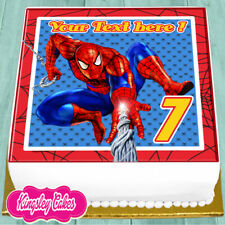 SPIDERMAN PERSONALISED BIRTHDAY 7.5 INCH PRECUT EDIBLE CAKE TOPPER J511K