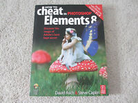 $40 NEW How to Cheat in Adobe Photoshop Elements 3 to 8 Softcover Book with CD