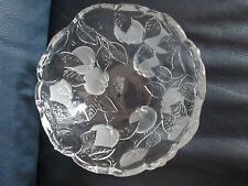 Obstschale WMF Kristallglas Druchmesser ca. 17,5 cm Fruchtschale