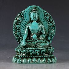 100% NATURAL TURQUOISE HAND CARVED BUDDHA STATUES