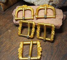 EMPIRE Ensemble de  5 Boucles en bronze ciselé d'harnachement de Carrosse