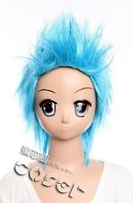 W-272 ONE PIECE FRANKY COSPLAY Wig blau blue PUNK heat resistant Anime MAnga