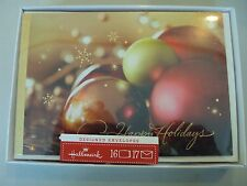 Hallmark Boxed Lot Of 16 Christmas Cards with Designed/Printed Envelopes Nib