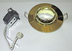 Aurora MR16 Eyeball lamp 'Polished brass' finish             AU-DDL313