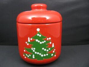 Christmas Tree Lidded Canister  Waechtersbach German Stoneware New