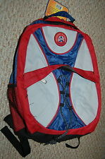 Backpack Rugged Cargo Star Gray Red Blue 15x11x5