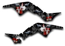 HONDA TRX250R GRAPHICS DECAL KIT AMERICAN HERO TRX 250 R STICKER PINUP BLACK