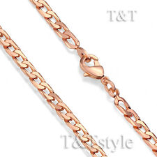 T&T 3.5mm 9K Rose Gold Filled Curb Chain Necklace (CF105)