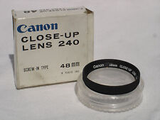 Canon 48mm  Close UP lens 240  , filter with case