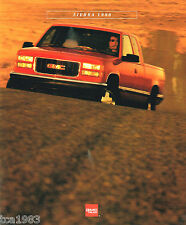 1996 GMC SIERRA PickUp Truck Brochure / Catalog w/Color Chart : SLT,Z71,Pick Up,