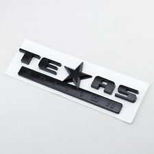 Dark Black TEXAS Edition Pickup Trunk Accessory Emblem Badge For Silverado Tahoe