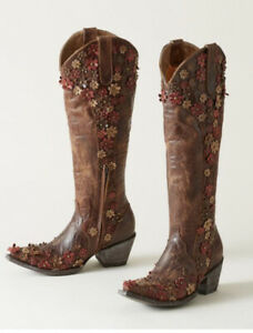 """Old Gringo Women's Hippie Chick Diana Tall Boot 18""""Size 7.5 New Retail $720"""