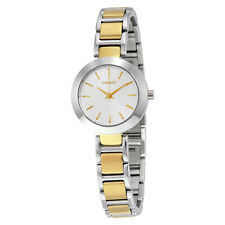 DKNY Stanhope Silver Dial Two-tone Ladies Watch NY2401