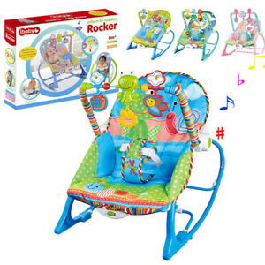 Electric Baby Bouncer Rocker Chair Vibration Swing Seat Portable Musical Cradle
