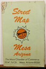 1974 Mesa Arizona vintage city road map Chamber of Commerce brochure b
