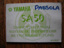 YAMAHA SA 50 PASSOLA  OWNERS MANUAL / BOOKLET / HANDBOOK