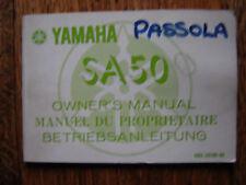 YAMAHA SA 50 PASSOLA  OWNERS MANUAL / BOOKLET / HANDBOOK